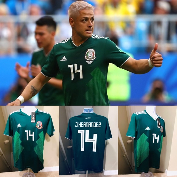 6dcffd1cd80 Hernández  14 Mexico Chicharito HOME Soccer Jersey. NWT. adidas
